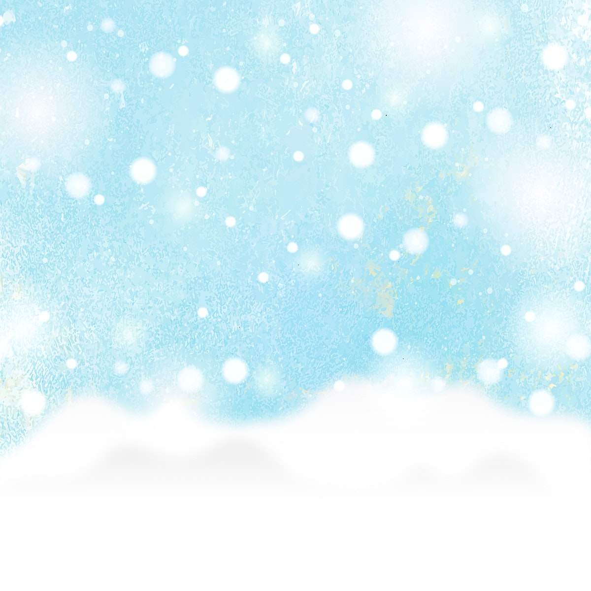 Watercolor painting of a snow scene vector