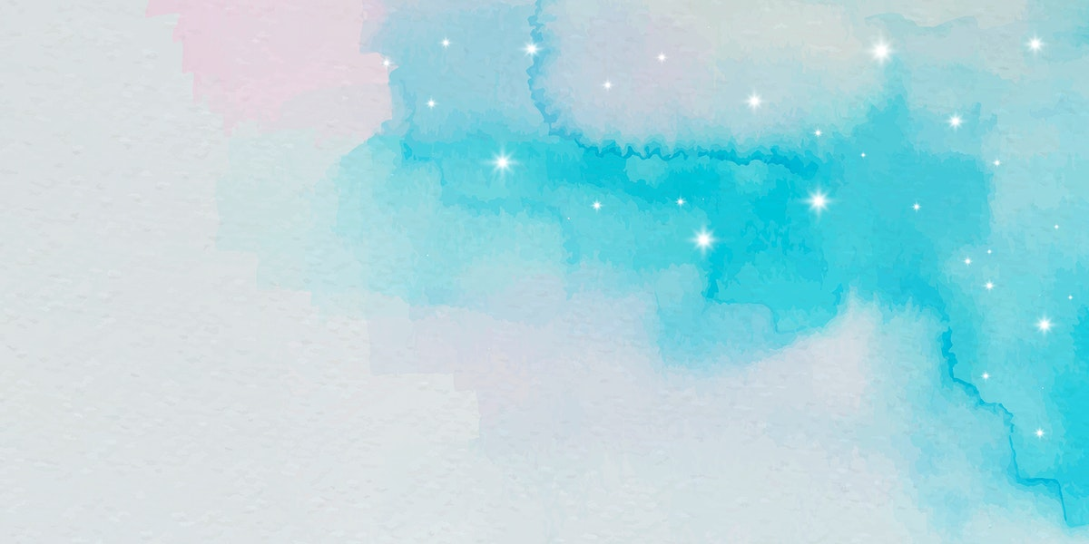 Blue and pink watercolor gradient background vector
