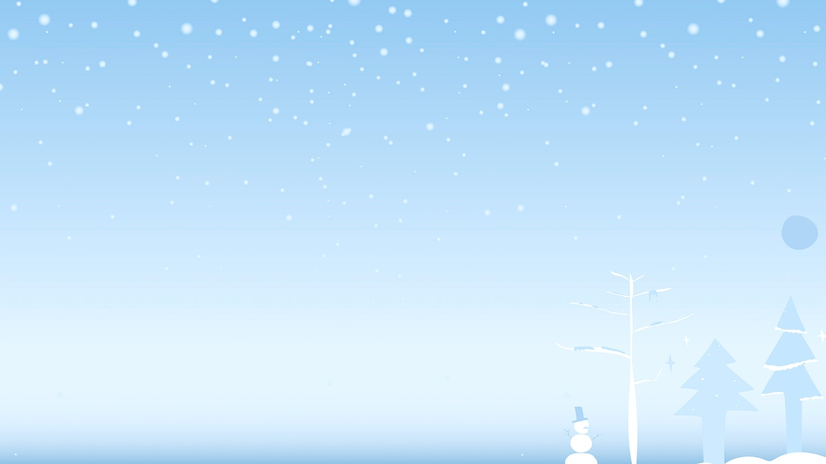 Watercolor painting of a snow scene with Christmas tree and snow man vector