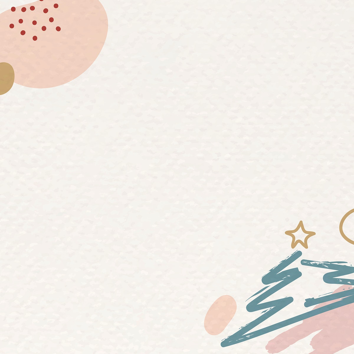 Christmas patterned on beige background vector