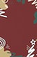 Christmas patterned on red background vector