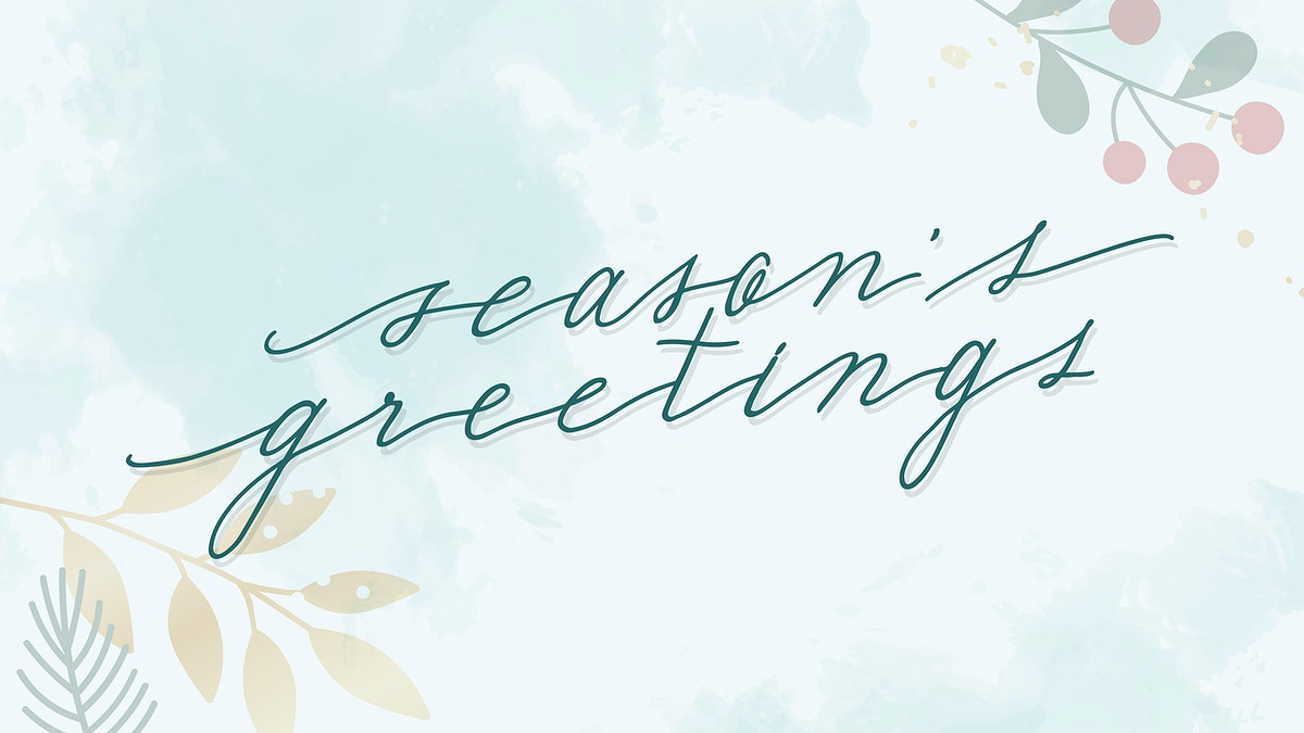 Festive seasons greetings card wallpaper vector