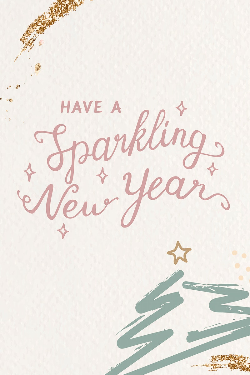 Have a sparkling new year card vector