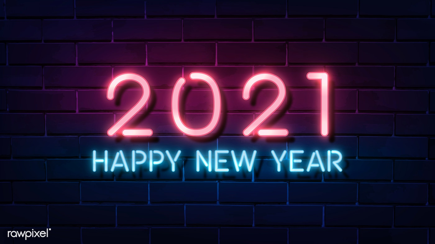 2021 Happy New Year gradient neon wallpaper | Royalty free ...