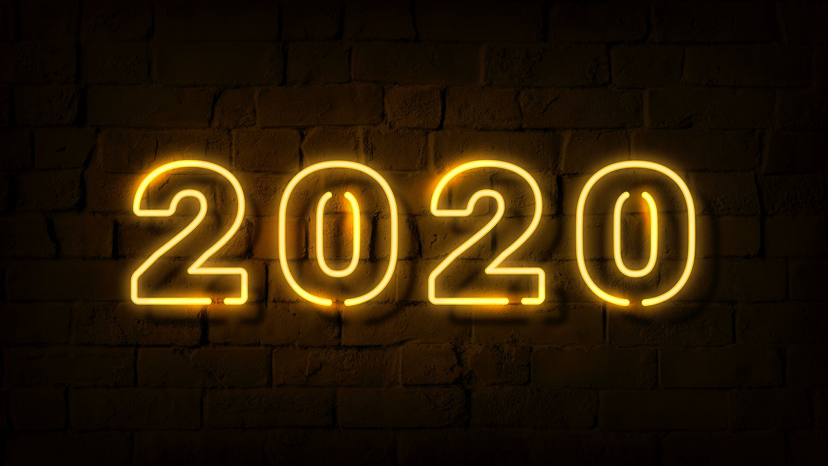 Bright yellow neon 2020 wallpaper