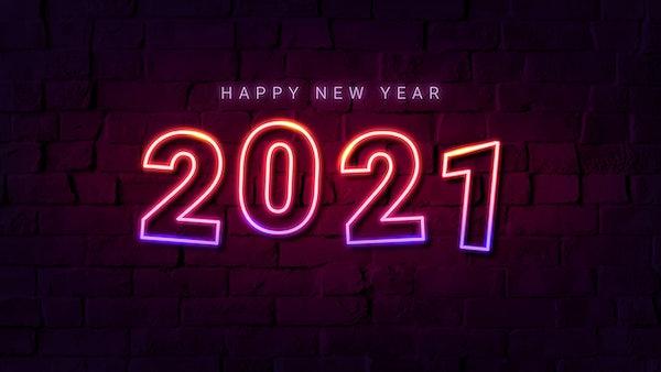2021 happy new year gradient neon wallpaper royalty free vector 1232207 download premium vector of pink neon happy new year 2021 wallpaper vector