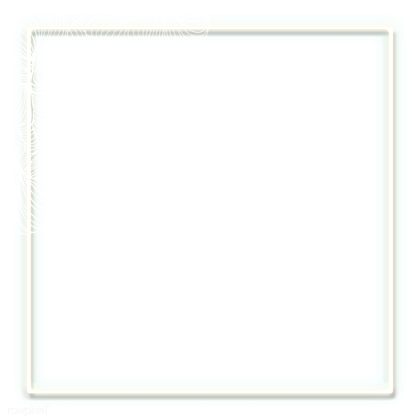 Neon white frame png | Royalty free stock transparent png ...