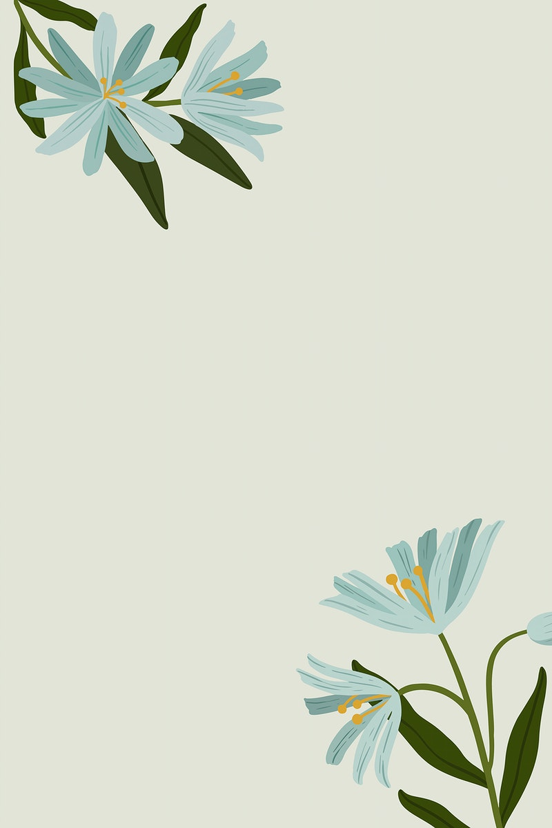 Blue botanical copy space on a gray background vector