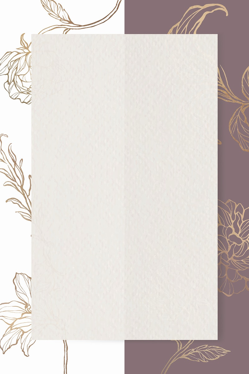 Rectangle paper on floral outline background vector