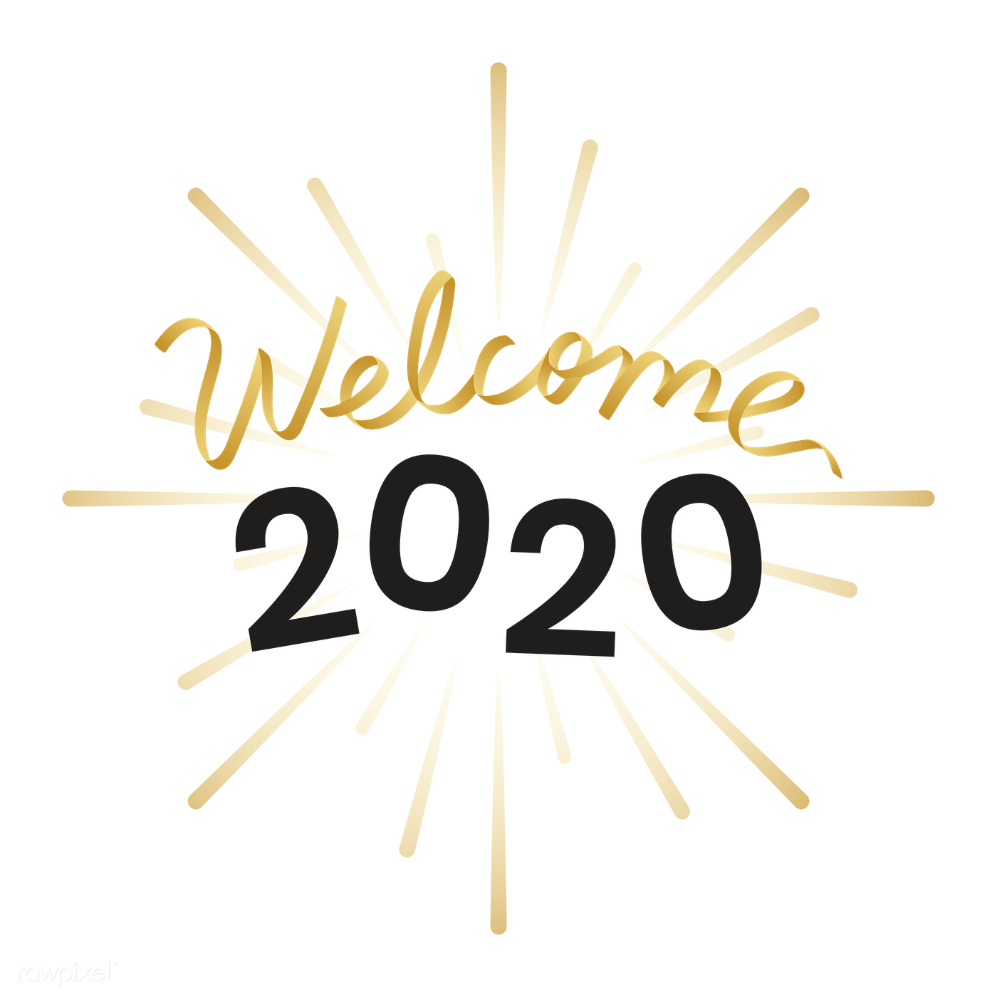 Welcome year 2020 card   Free transparent png - 1234462