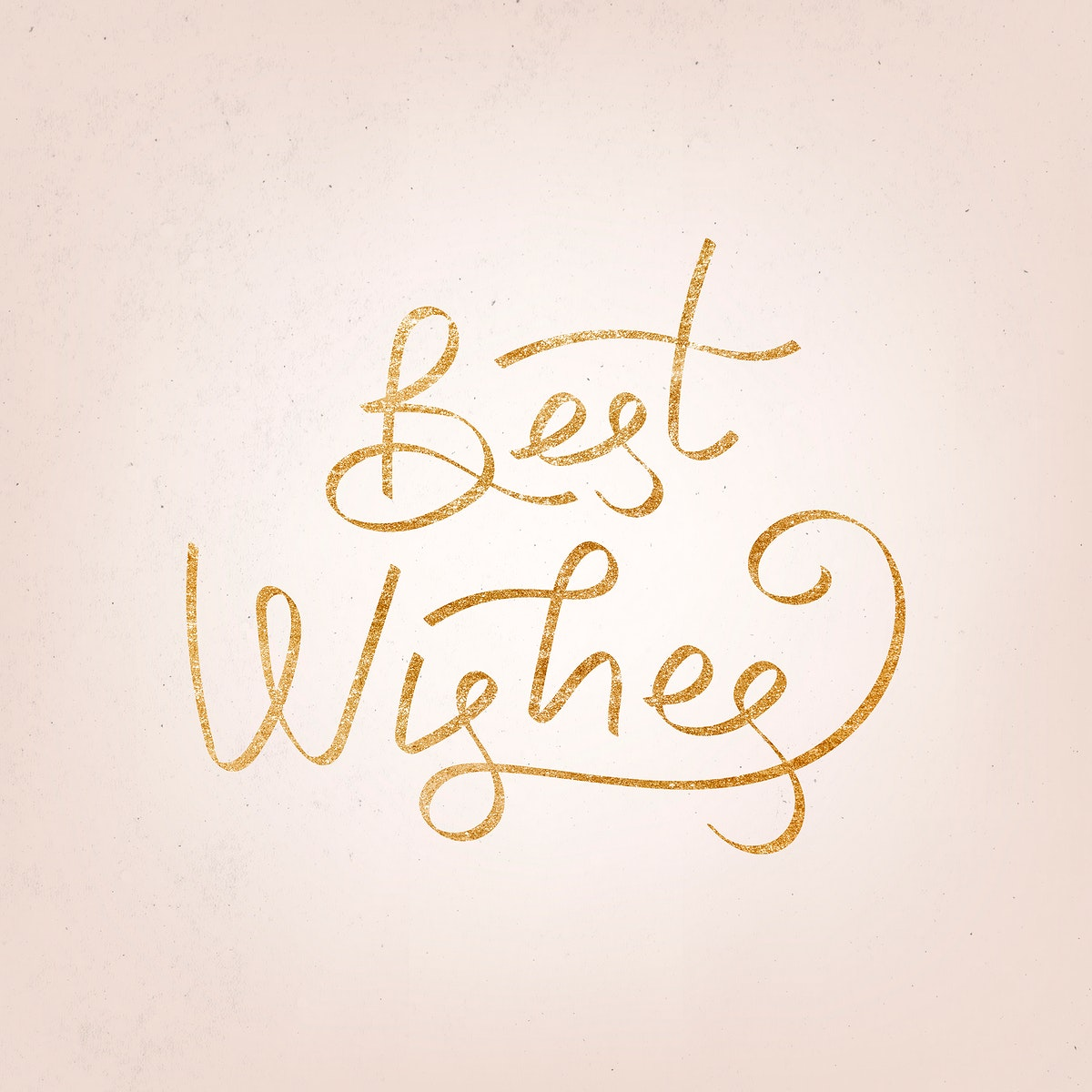 Golden best wishes typography illustration