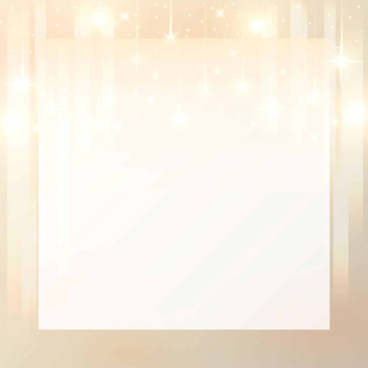 Square gold frame background vector