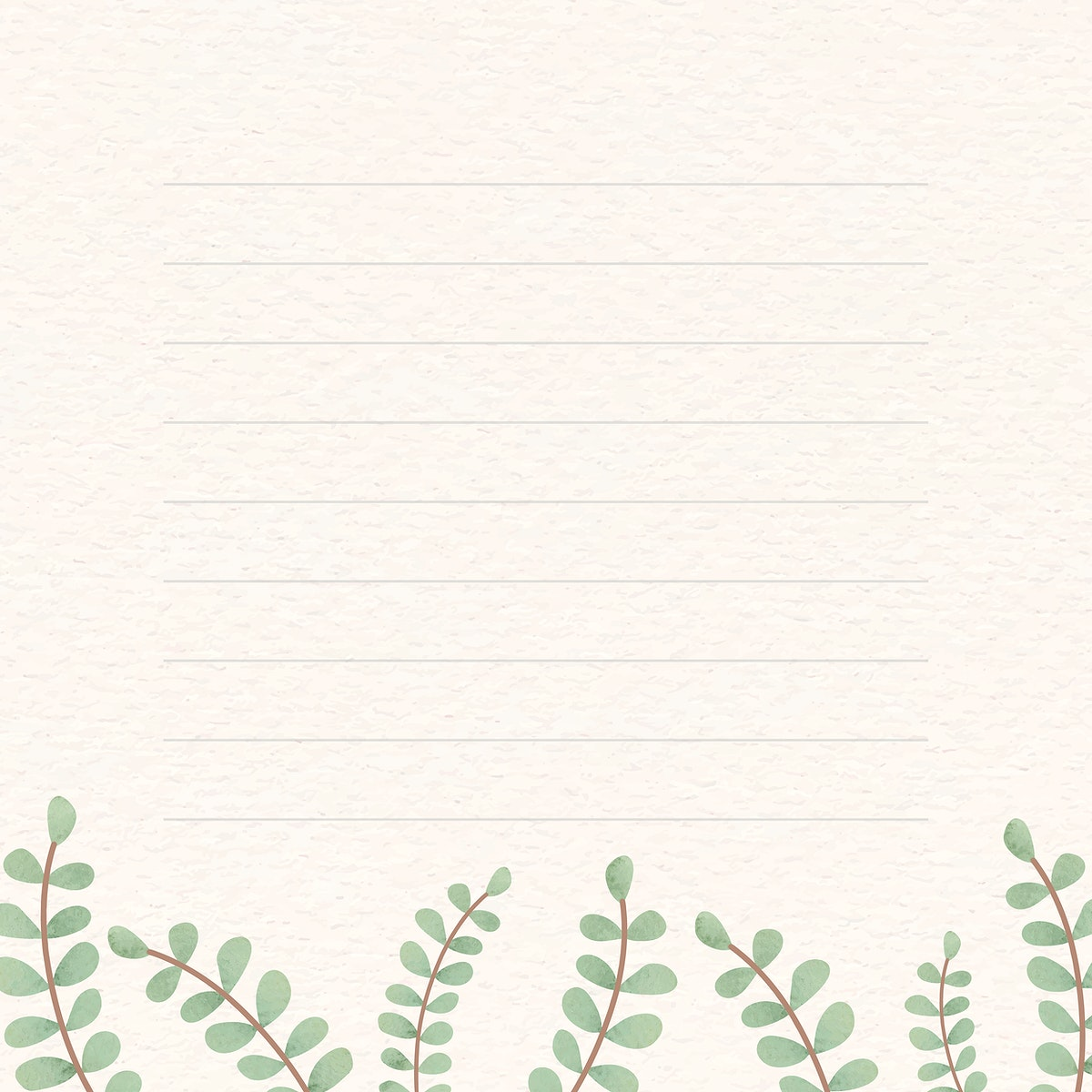 Leafy patterned note background vector