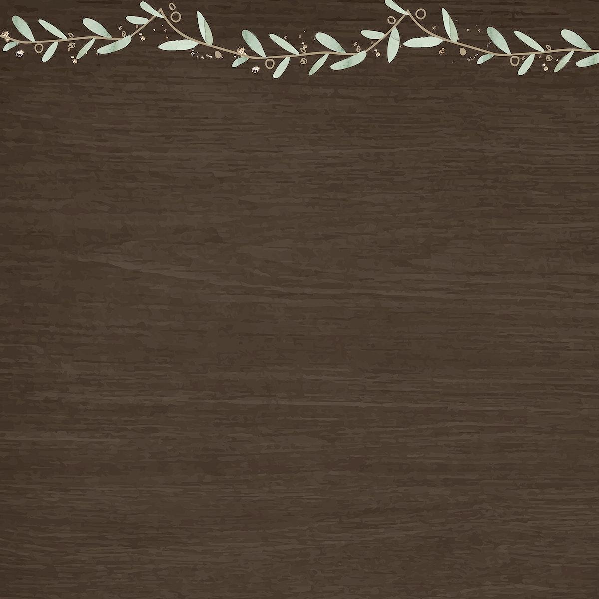 Leaf on brown background vector