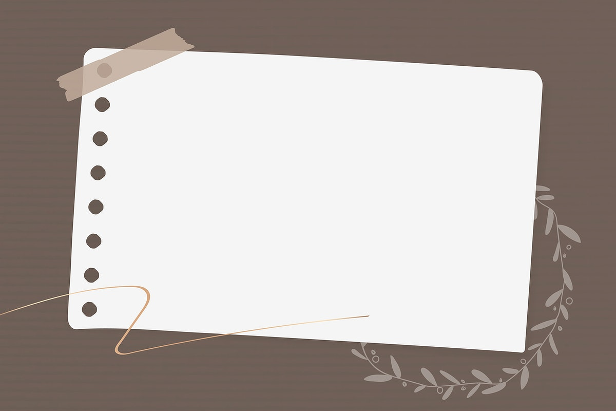 Floral note paper template vector