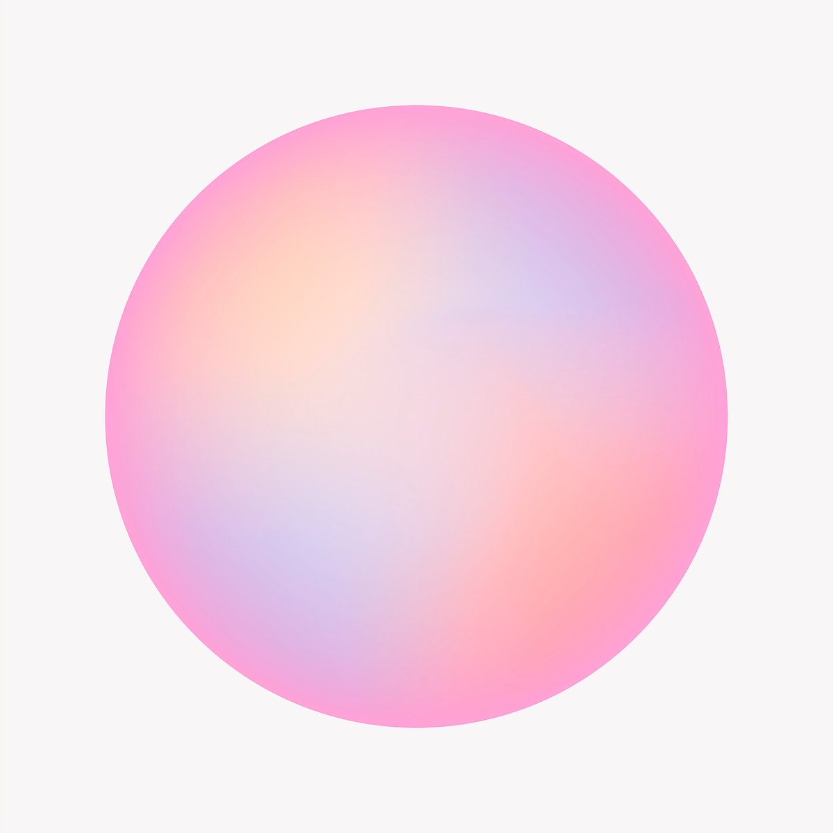 Colorful round gradient element