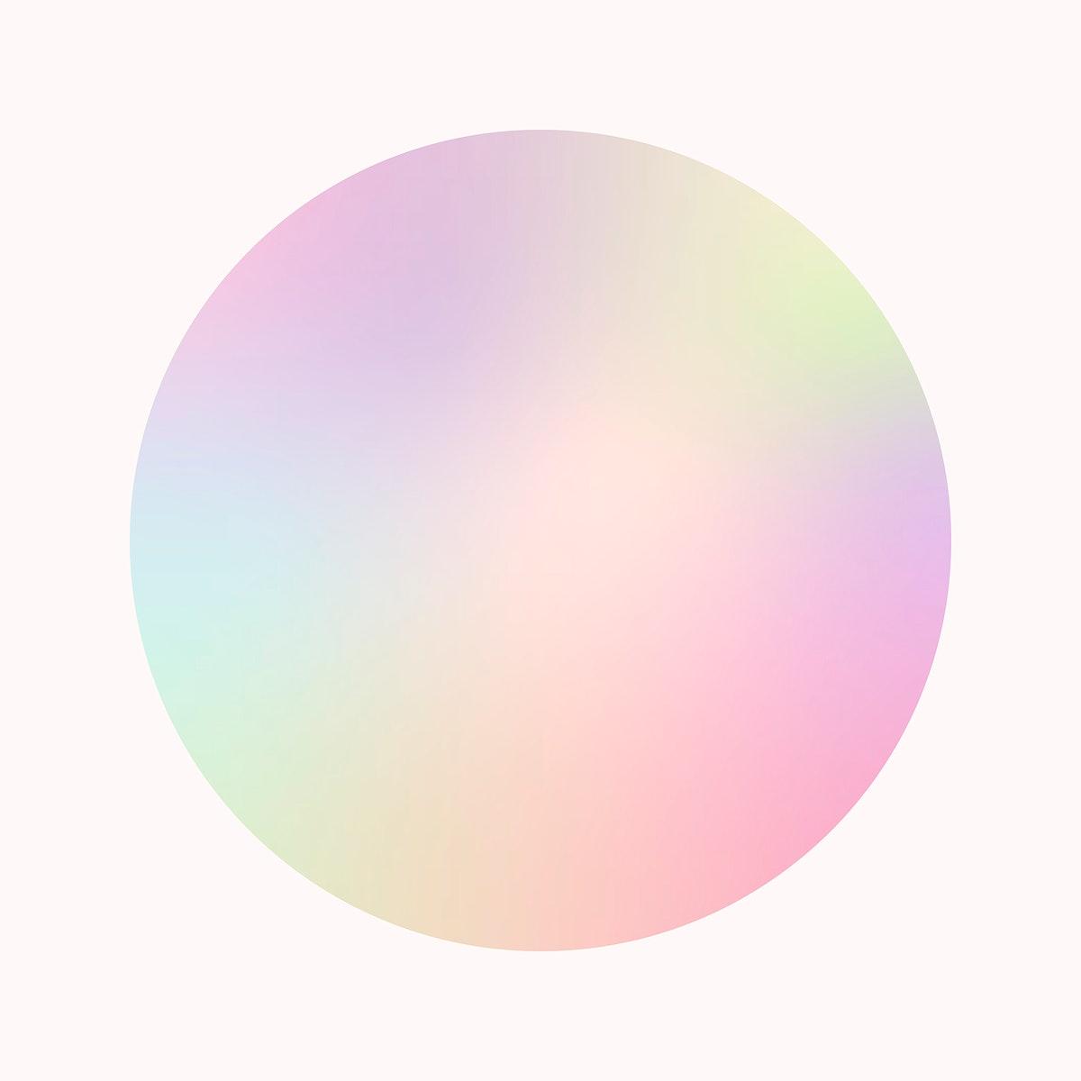 Colorful round gradient element vector