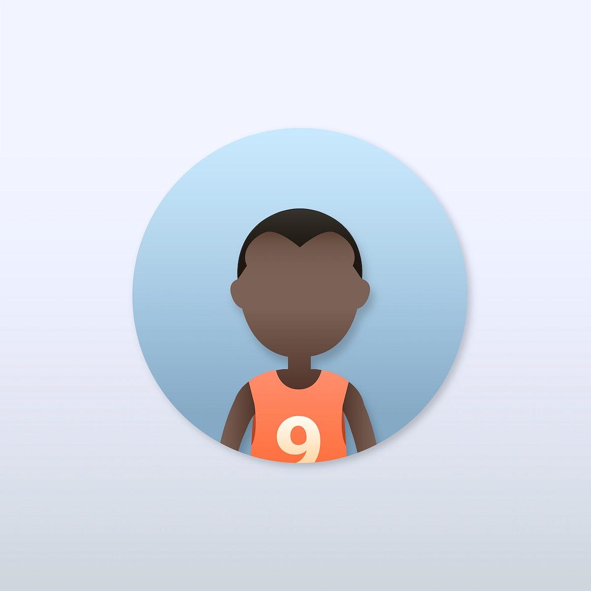 Young black man avatar illustration