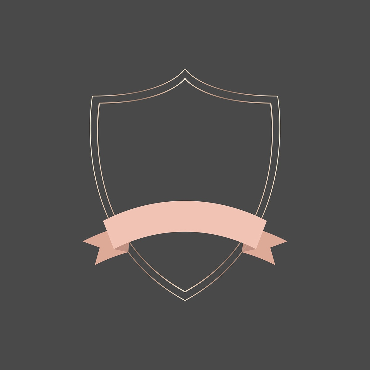 Gold frame with pink ribbon banner vector