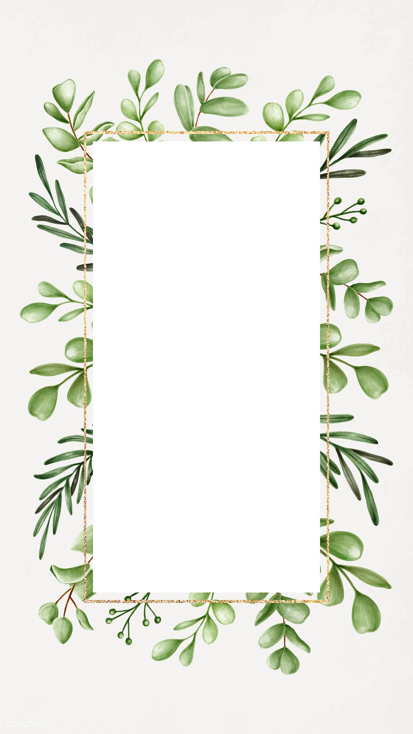 Botanical Patterned Mobile Wallpaper Royalty Free Vector 2032822