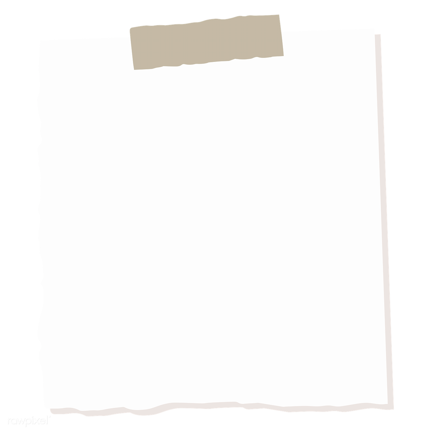 Blank square notepaper png | Free transparent png - 2028068