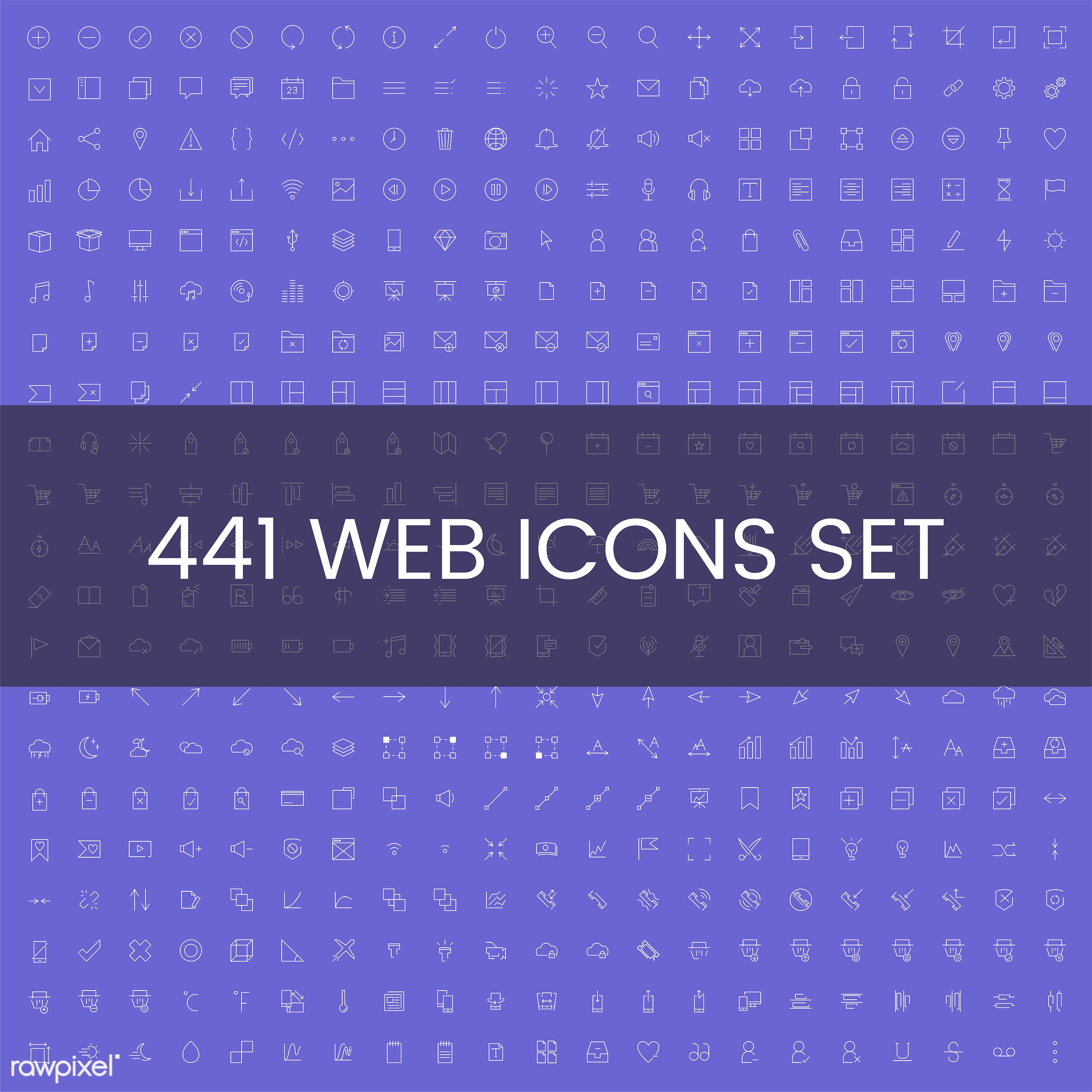 Set of computer icon vectors - collection, set, vector, illustration, graphic, business, icon, symbol, digital, email,...