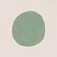 Solid green round watercolor element illustration