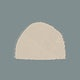 Hand drawn solid beige semicircle watercolor element illustration