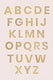 A-Z uppercase alphabet letters sticker collection illustration