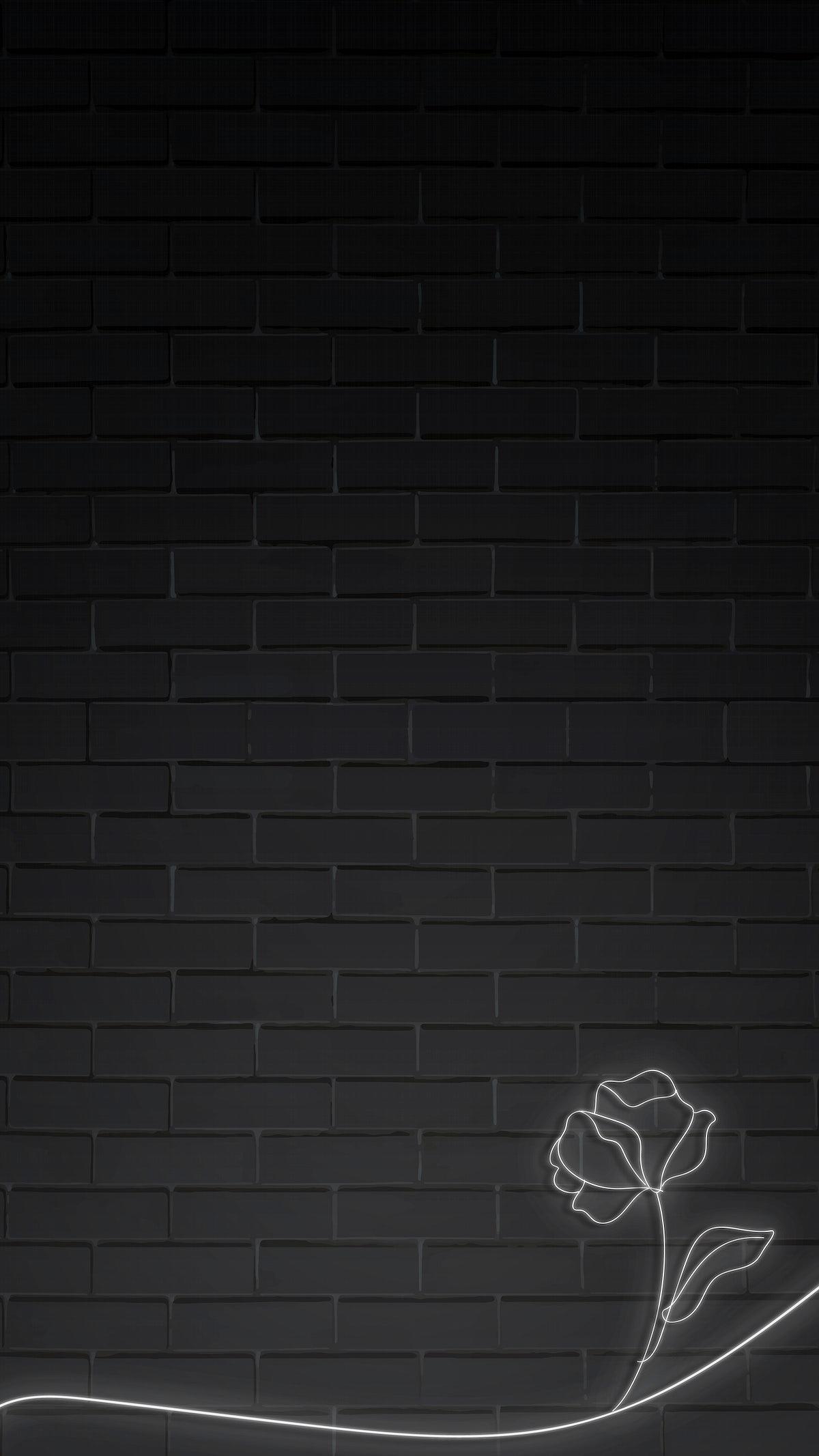 Flower On Black Mobile Wallpaper Royalty Free Vector 2037310