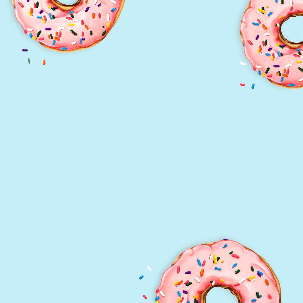 Donut Patterned Frame Template Free Psd High Resolution Mockup