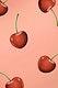 Fresh juicy cherry patterned background mockup