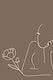 Feminine line art vector