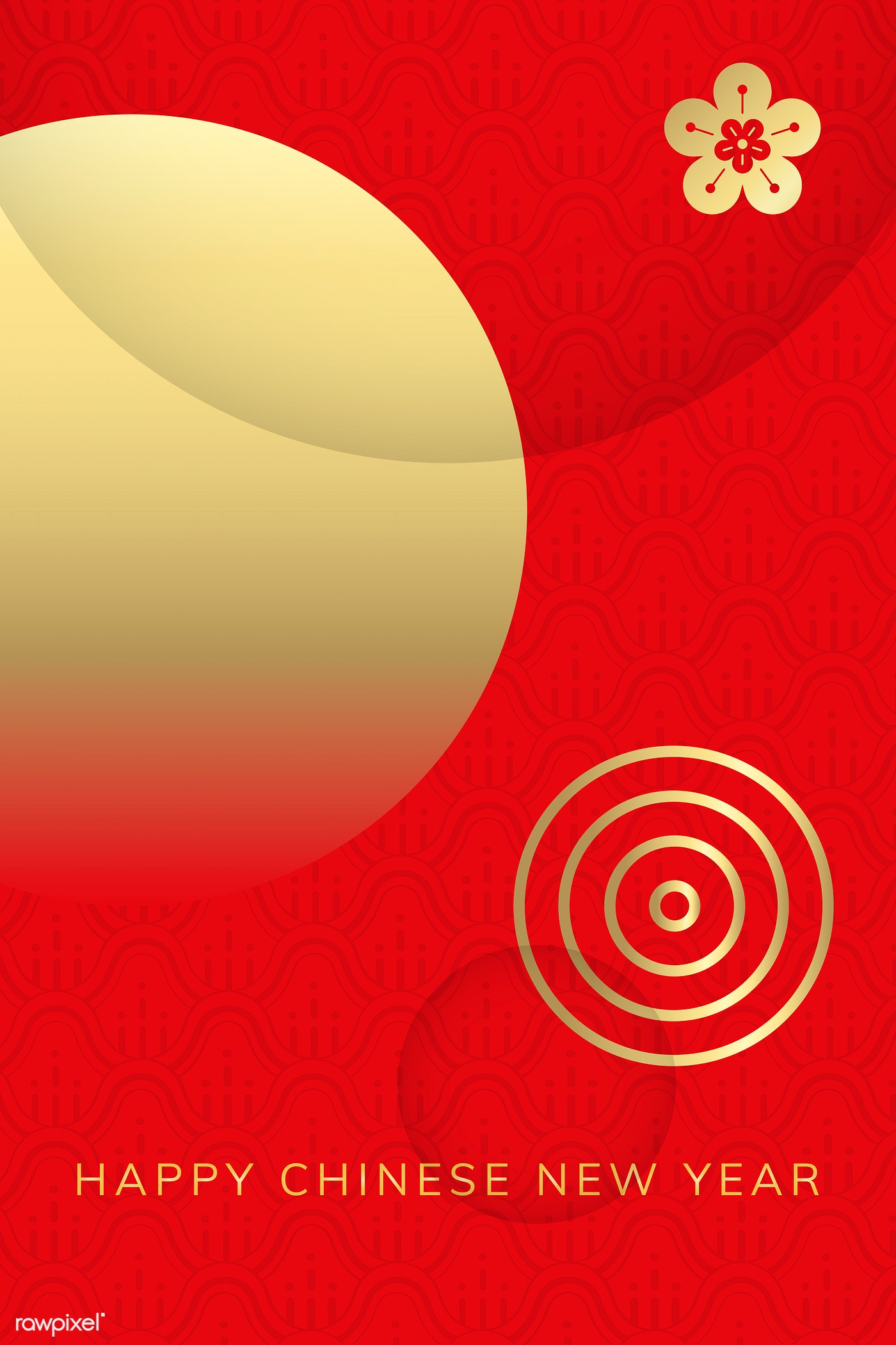Download Premium Vector Of Happy Chinese New Year 2020 Background Vector