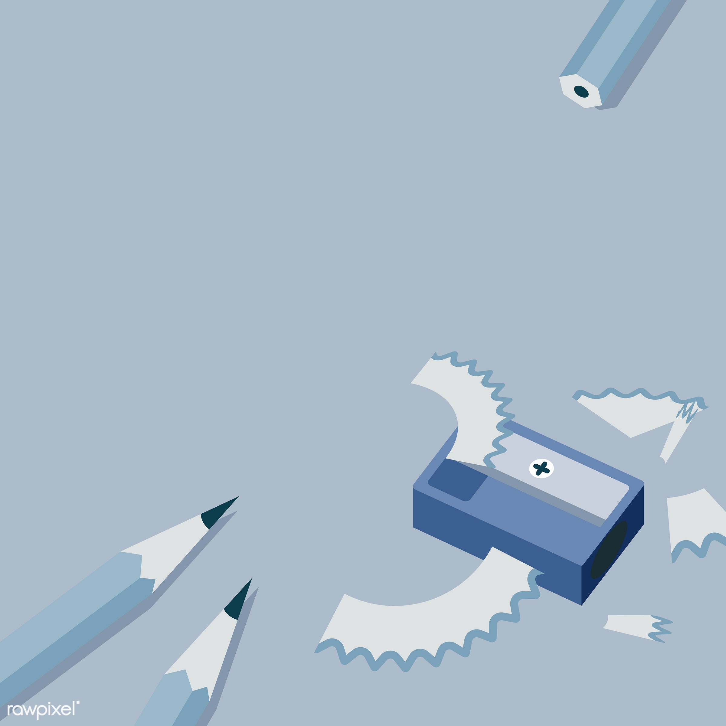Pencil sharpener  - blue, brain, concept, conceptual, illustration, manual, mind, pencil, pencil sharpener, sharp, sharpen,...
