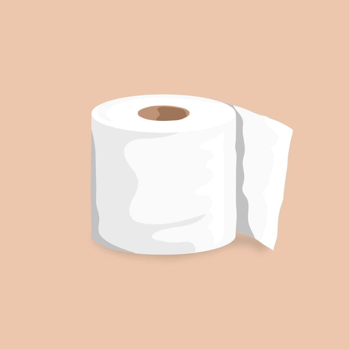 Toilet tissue roll element vector