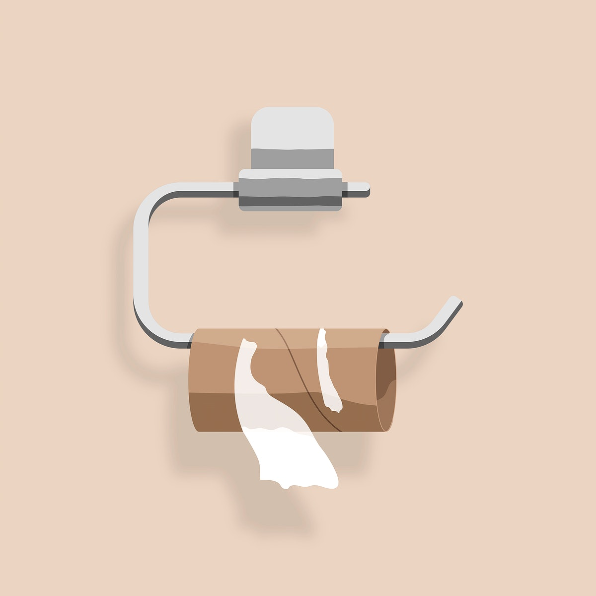 Ran out of toilet paper element vector