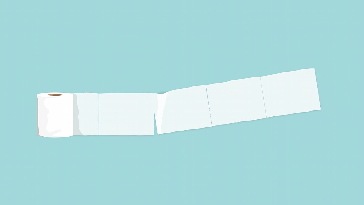 Toilet paper tissue banner element vector