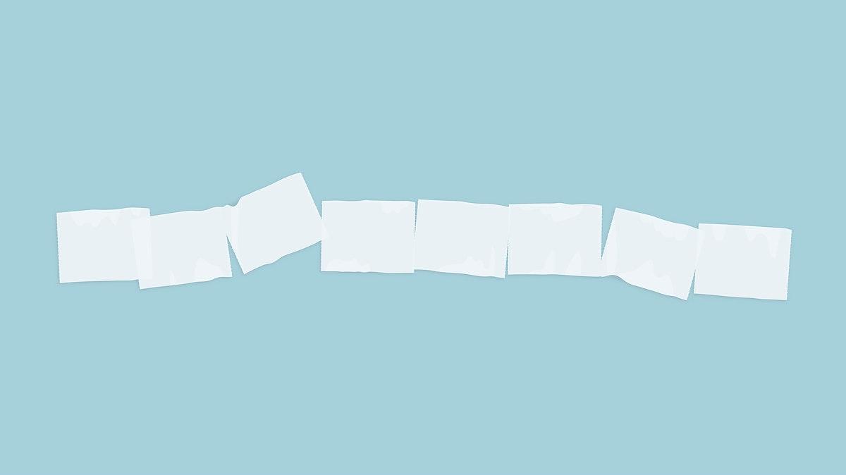 Toilet tissue paper banner element vector