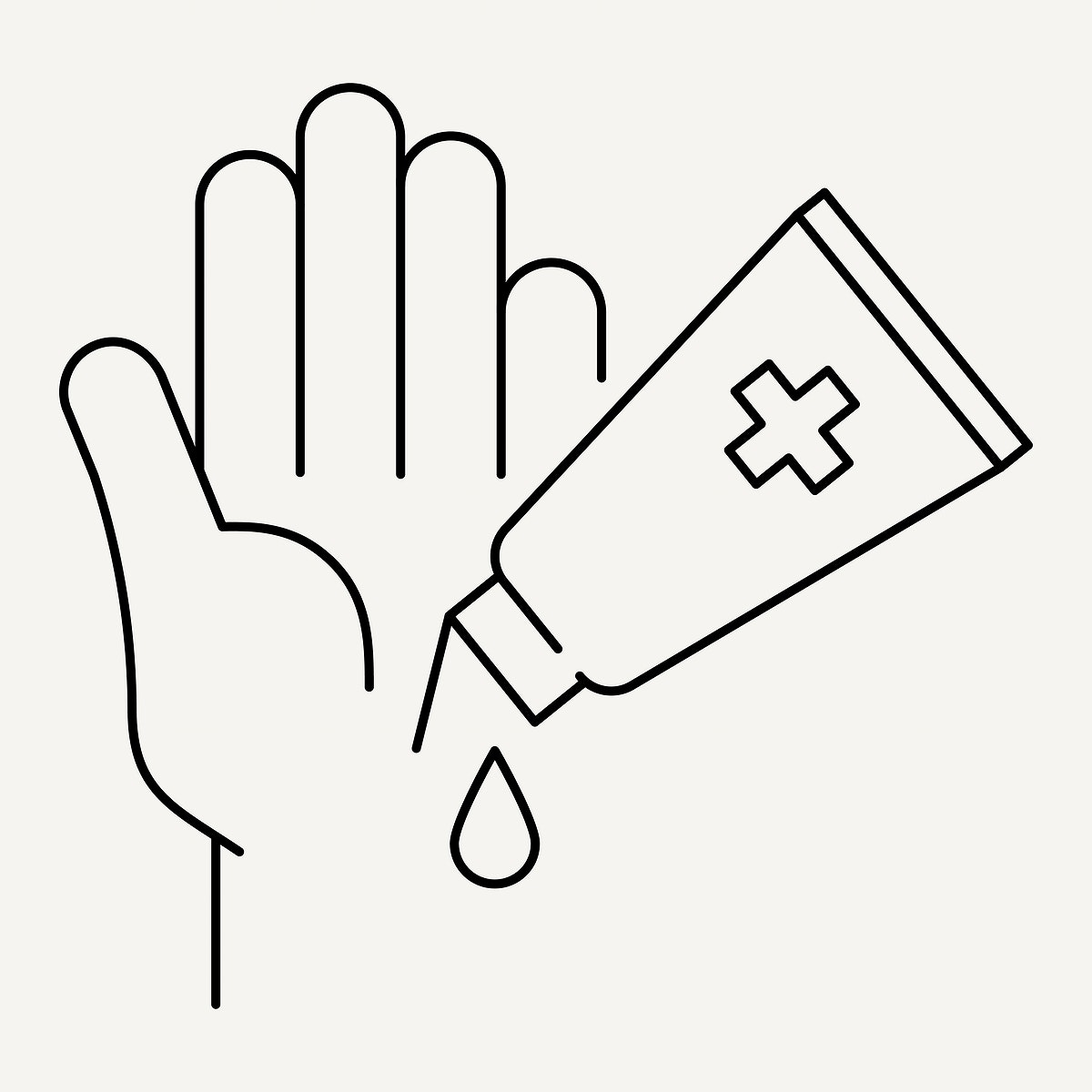 Wash your hands frequently with sanitizer gel to anti coronavirus element vector