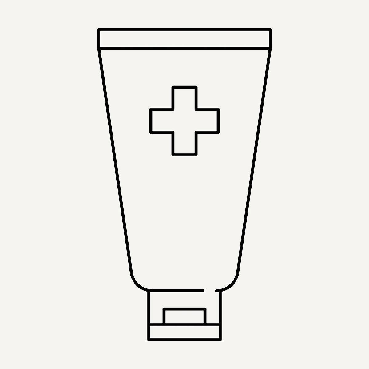 Alcohol hand sanitizer tube element to anti coronavirus element vector