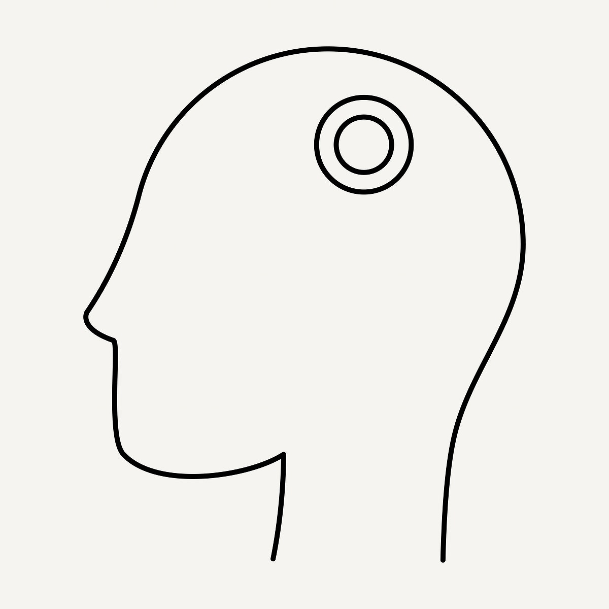 Line drawing character headache from COVID-19 symptoms element vector