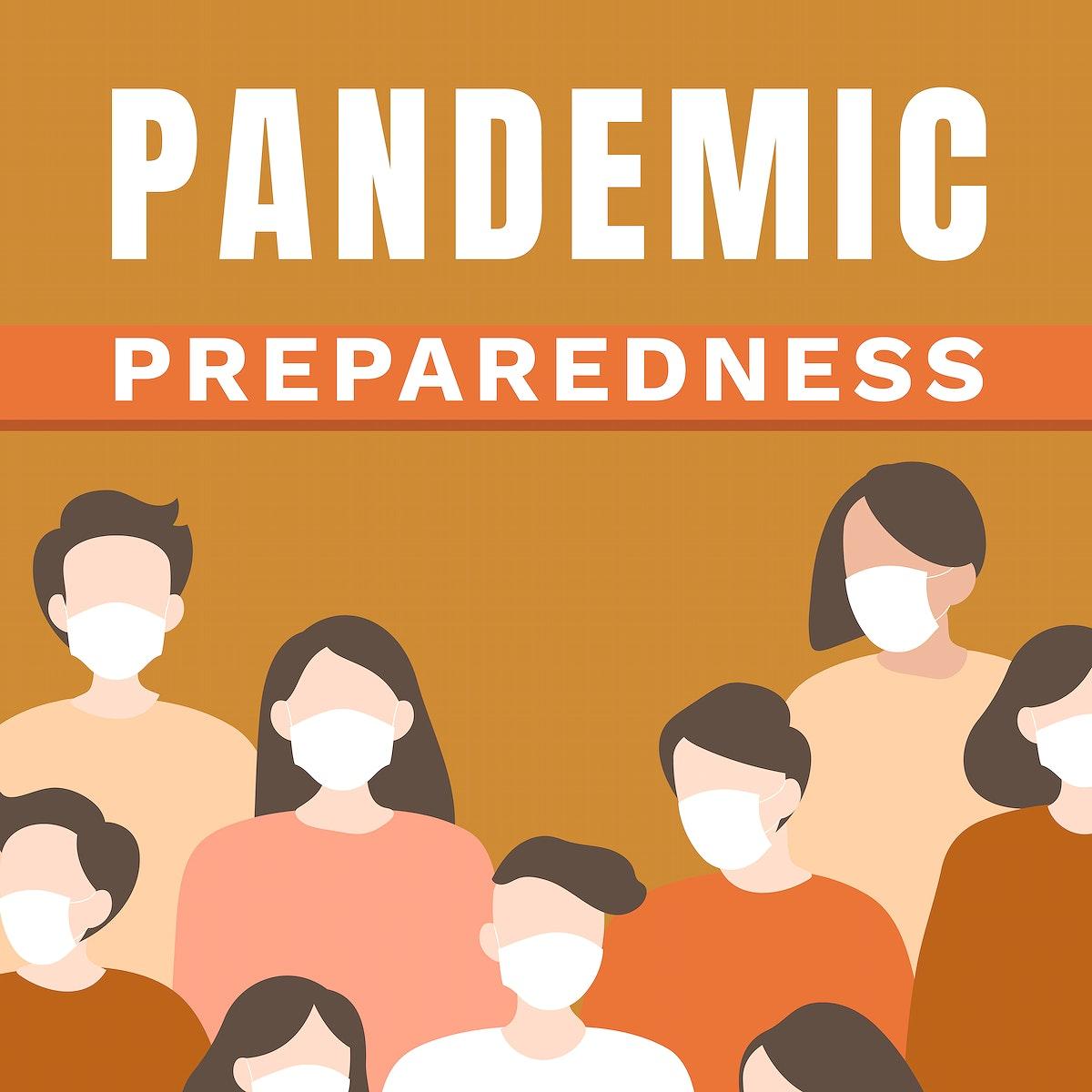 Pandemic preparedness social post vector