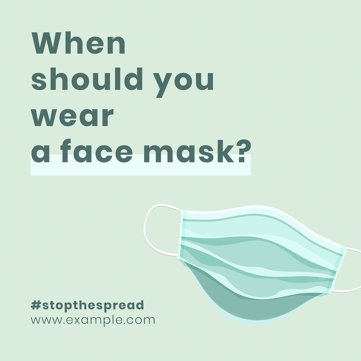 When to wear a mask recommendation covid-19 awareness vector