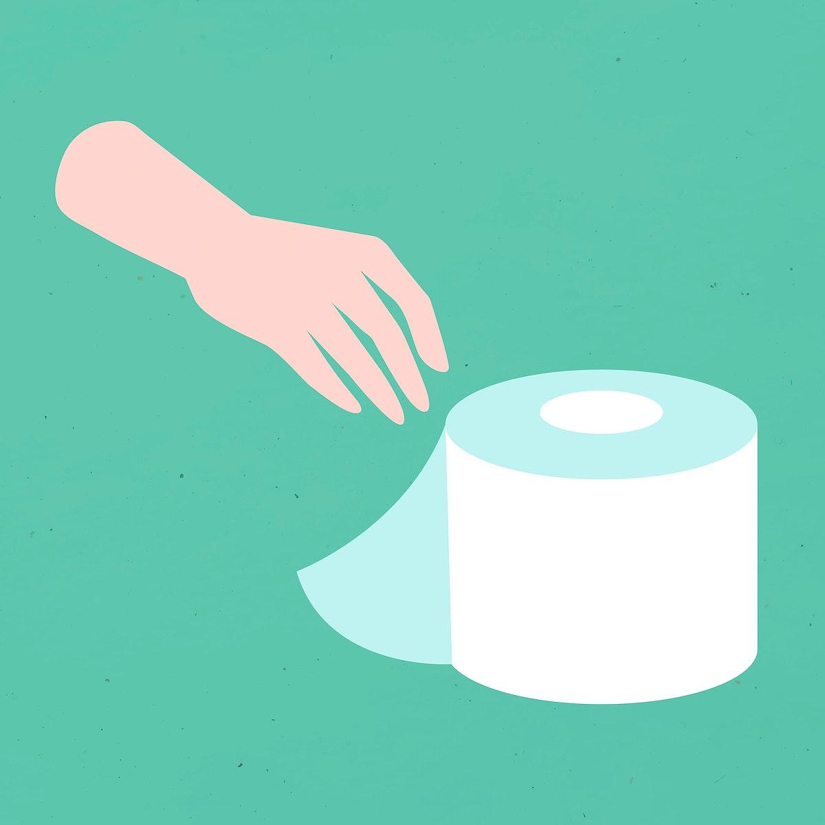 Hand using tissue paper coronavirus prevention vector