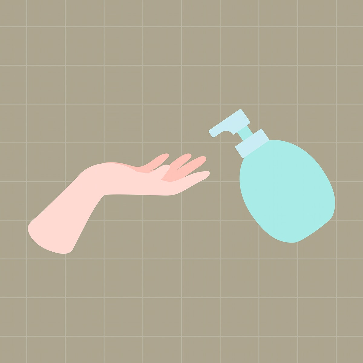 Wash hands with soap and water vector