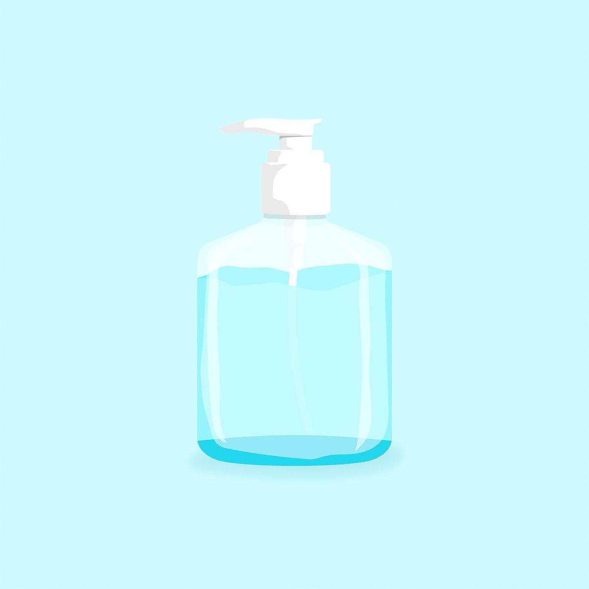 Hand sanitizer bottle to anti coronavirus element vector