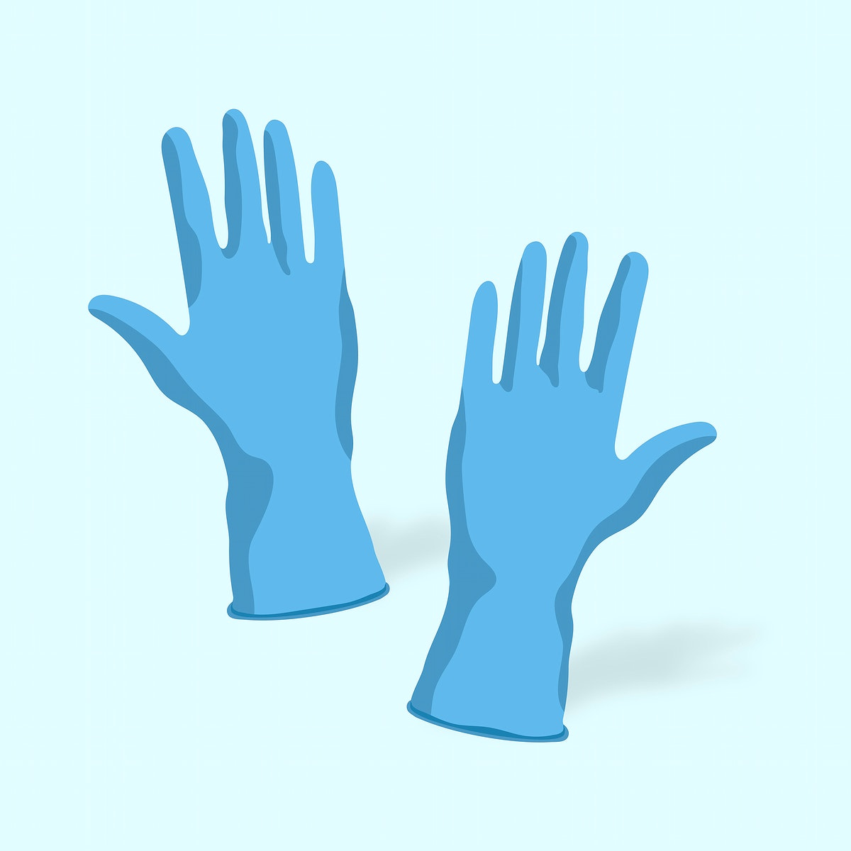 Wearing gloves to prevent the spread of coronavirus vector