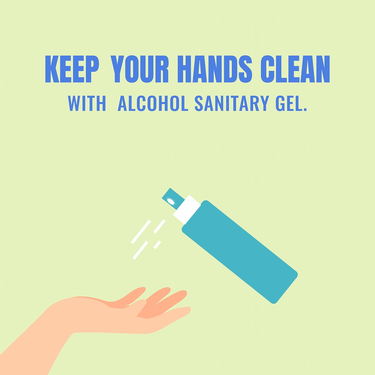 Keep your hands clean coronavirus protection template vector