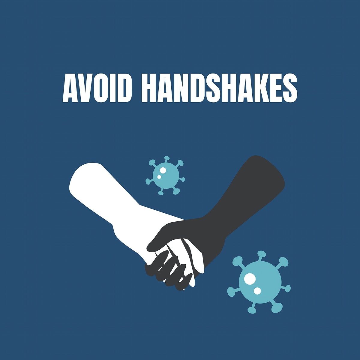 Avoid handshakes coronavirus awareness message vector